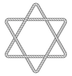 rope hexagram icon vector image