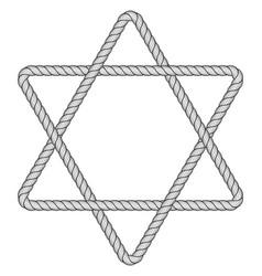 Rope hexagram icon vector