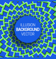 Round frame on blue green optical illusion vector