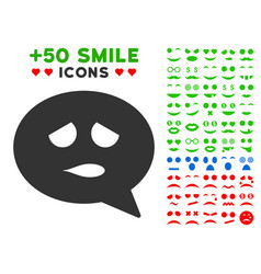 Sadly smiley message icon with bonus mood vector