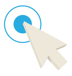 screen arrow icon cartoon style vector image