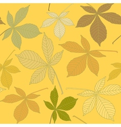 Seamless pattern with chestnut leaves vector image