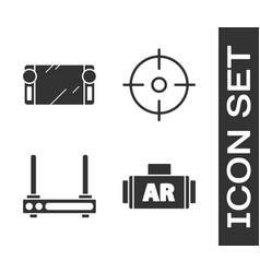 Set ar augmented reality portable video game vector
