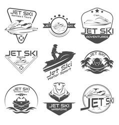 Set logo jet ski scooter vector