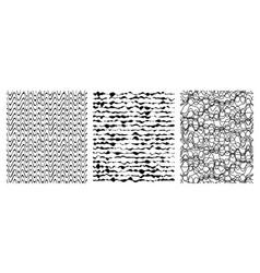 set of seamless grunge pattern art vector image