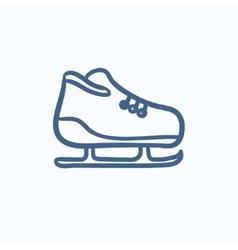 Skate sketch icon vector image