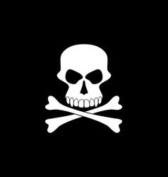 skull on black vector image