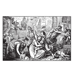 Slaughter of the innocents - herod has all vector
