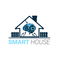 Smart house innovation technology of home vector
