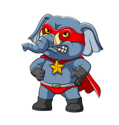 super elephant is standing with good vector image