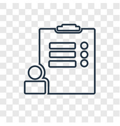 survey concept linear icon isolated on vector image