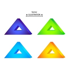 Triangular logo set vector image