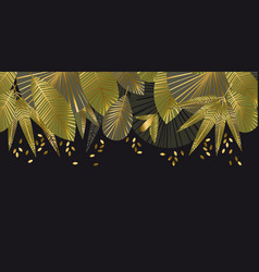 tropical leaves decorative geometric pattern vector image