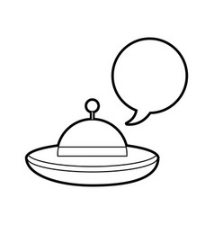 ufo flying with speech bubble vector image