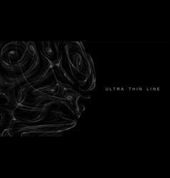 ultra thin line fluid geometry dynamic vector image
