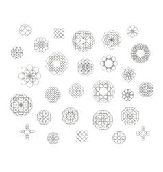 Vintage round patterns vector