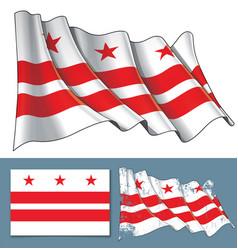 waving flag washington dc vector image