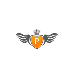 Wing shield crown initial p vector