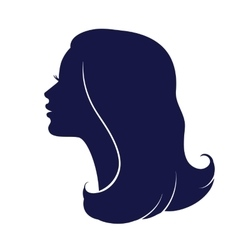 Woman face profile Female head silhouette vector