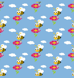 Working bee pattern vector