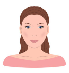 Young girln face beautiful woman vector