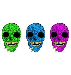 Zombies in neon vector
