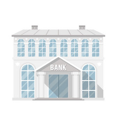 bank building administrative commercial house flat vector image