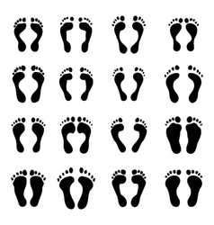 collection of a imprint soles shoes vector image