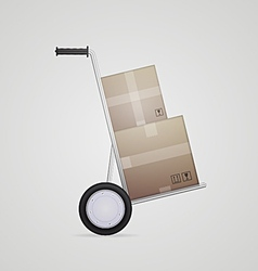 delivery hand truck vector image