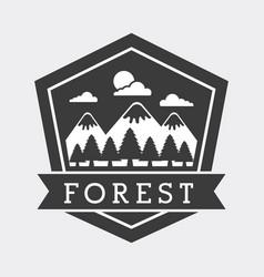 forest adventure exploration landscape mountain vector image
