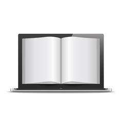 Magazine in Laptop vector image vector image