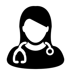 Woman doctor physician medical nurse icon vector image vector image