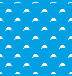 construction helmet pattern seamless blue vector image vector image