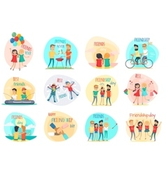 Friendship Best Friends Forever Relations vector image vector image