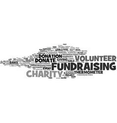 Fundraising word cloud concept vector