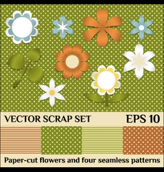 scrap set vector image