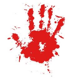 splatter hand print vector image vector image