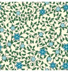 Vintage seamless pattern of weaving flowers vector image vector image
