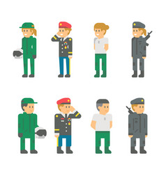 flat design soldier uniforms vector image