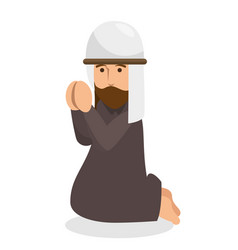 prayer avatar isolated icon vector image