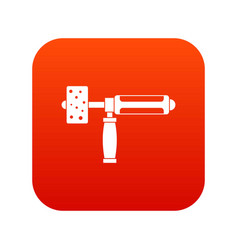 precision grinding machine icon digital red vector image vector image