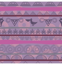 Seamless ethnic pattern with the image of pelicans vector image vector image