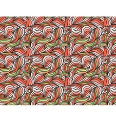 Background with abstract doodle waves vector image