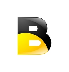 Creative yellow and black symbol letter B for your vector image vector image