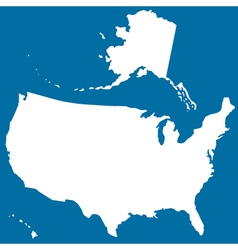 Cutout silhouette map of usa vector
