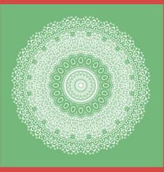 Green oriental geometric ornament vector