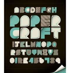 Paper craft vector