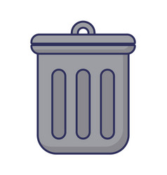 trash icon image vector image