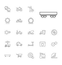 22 wheel icons vector