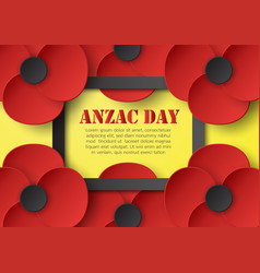Abstract background with flower for anzac day on vector